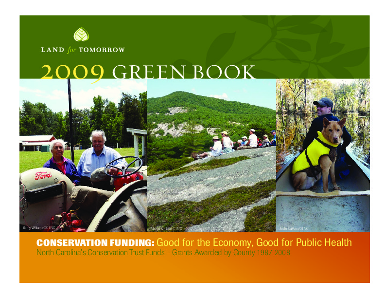 Photo of cover of 2009 Conservation Yearbook from Land for Tomorrow