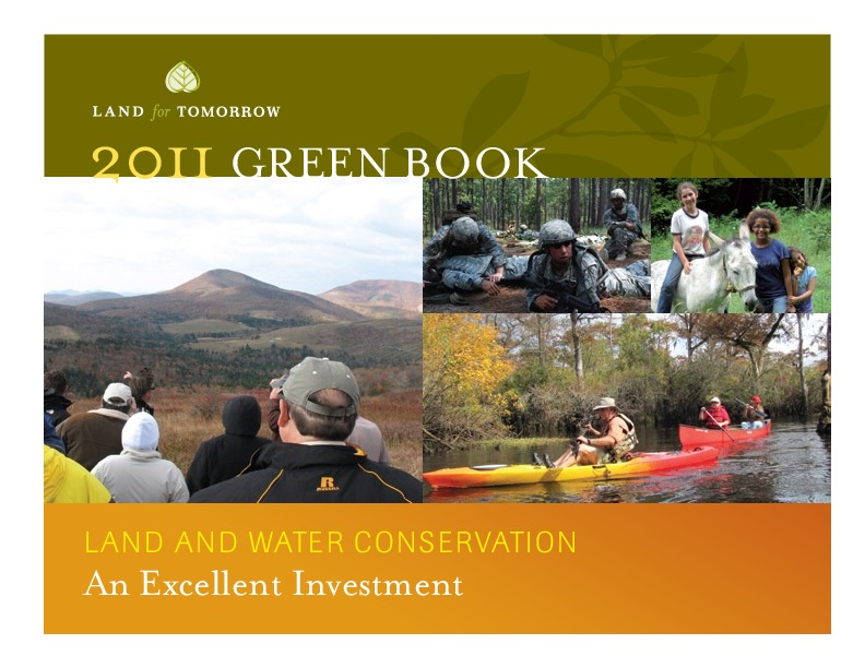2011 Land for Tomorrow Conservation Yearbook Cover Photo