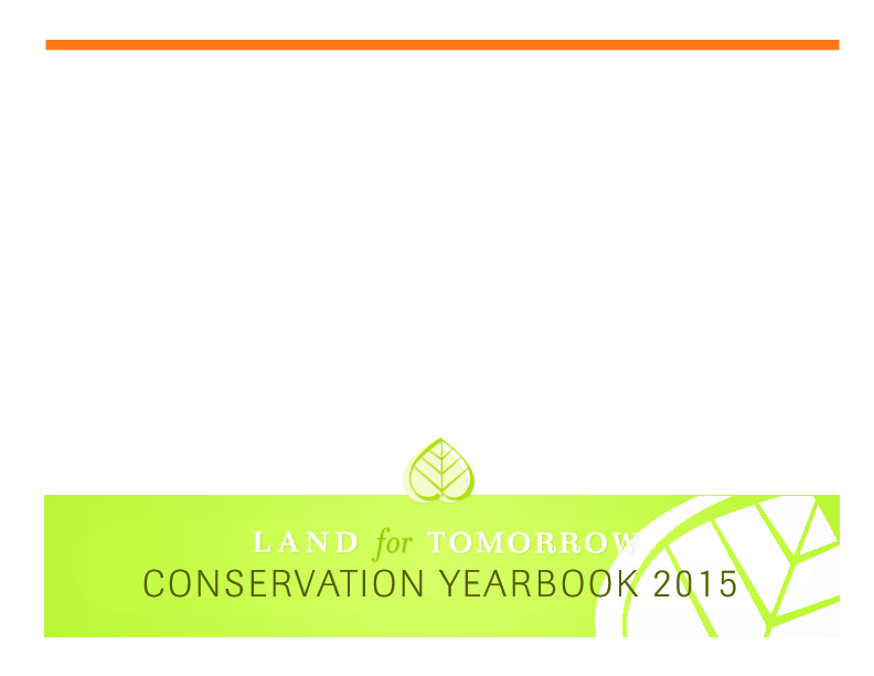 Image of 2015 Land for Tomorrow Conservation Yearbook Cover