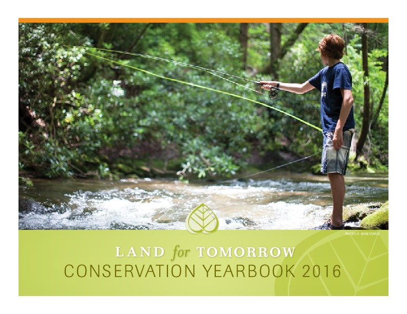 Image of cover for 2016 Land for Tomorrow Conservation Yearbook